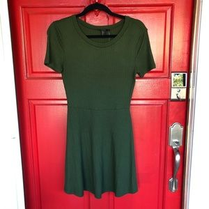 NWT Stunning Green Forever 21 Skater Dress